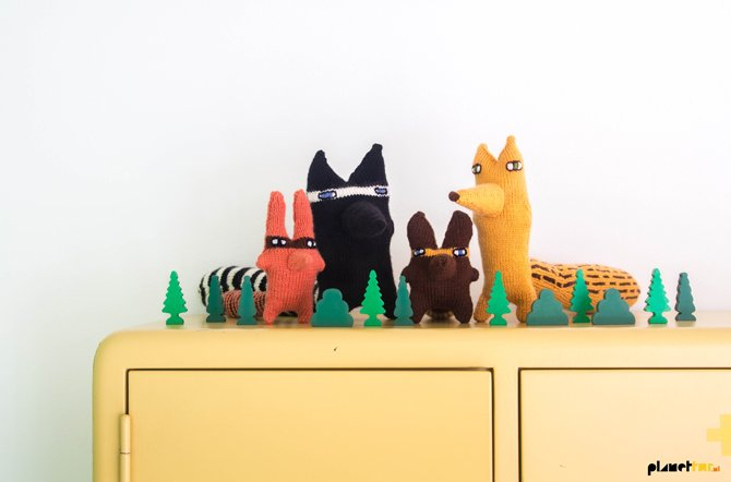 The knitted odd-bod bunch - Planet Fur