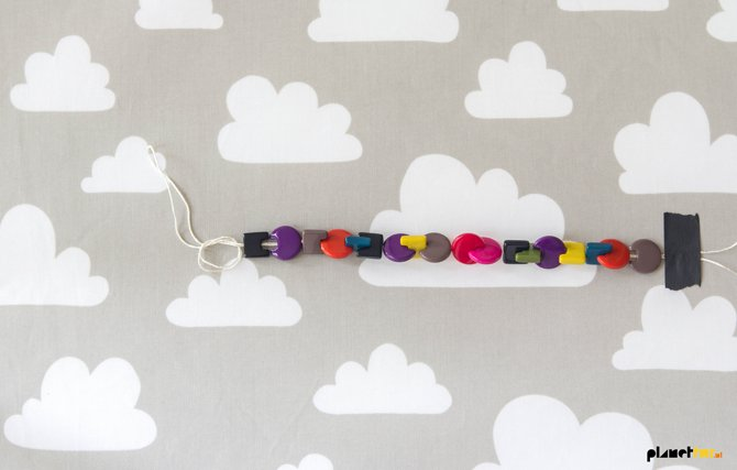 DIY beaded pacifier clip - Planet Fur
