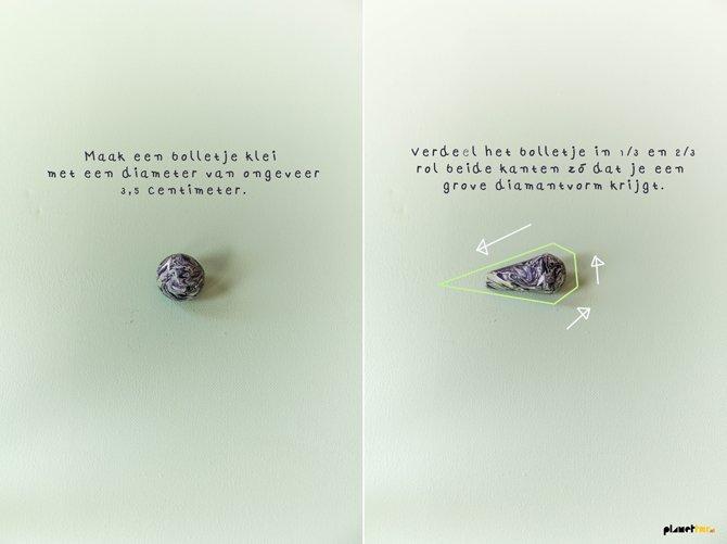 Polymer clay diamond DIY - Planet Fur